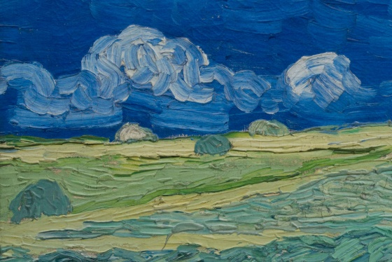 vangogh-NEW wheatfield  under thunderclouds