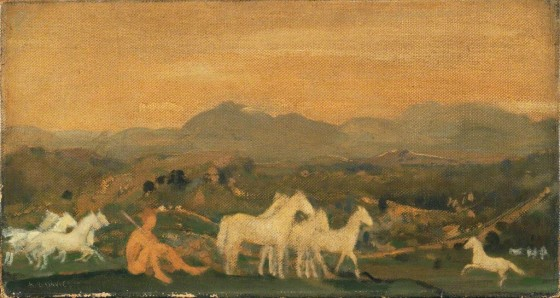 Arthur Bowen Davies Horses of Atticalarger