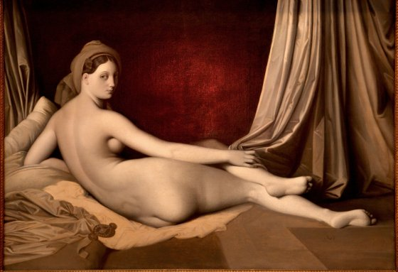 "A close look at Ingres's ""Odalisque in Grisaille,"" left, reveals a sketchy foreground."