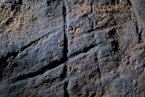 A Neanderthal rock engraving inside a cave in Gibraltar. The discovery of geometric shapes carved into a cave in Gibraltar dating back more than 39,000 years is the earliest example of cave art of the Neanderthals, with researchers suggesting that these extinct cousins ​​of modern humans were also capable of abstraction. AFP PHOTO/ Stewart Finlayson.