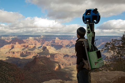 GOOGLE STREET VIEW TECH AT THE GRAND CANYON