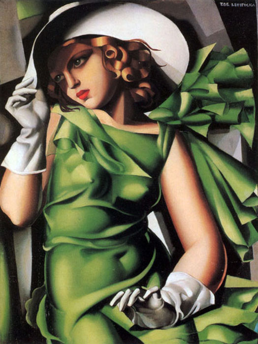 Tamara DeLempika- Young Lady with Gloves-1930