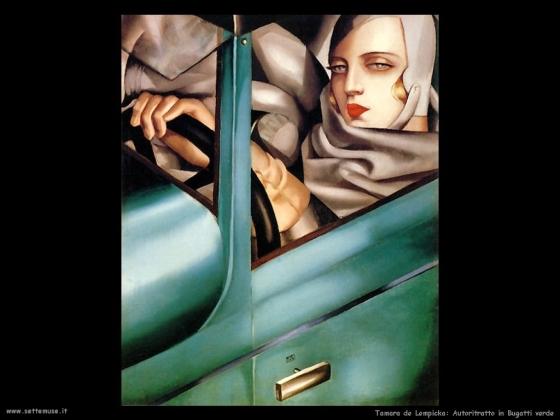 tamara_de_lempicka _autoritratto_in_bugatti_verde_1925.