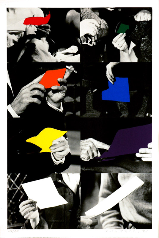 "John Baldessari ""Two Unfinished Letter, 1992-1993"""