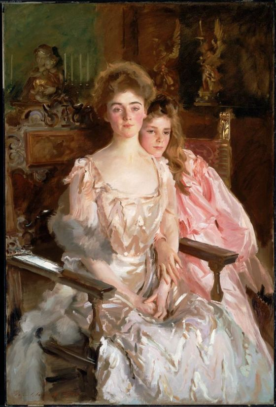 """Mrs. Fiske-Warren (Gretchen Osgood) and her Daughter Rachel,"" John Singer Sargent."