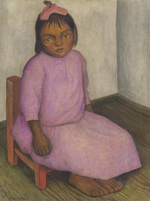 Diego Rivera (18861957), Niña con vestido rosa. 1930. (Source: Google Images)