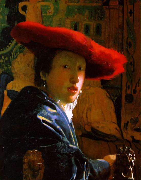 "Johannes Vermeer (1632 - 1675 ), ""Girl with the Red Hat"""