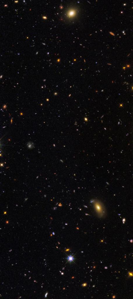 As many galaxies are revealed here are just the brightest and most easily seen ones. Less than 10% of what's out there is revealed by GOODS. Infrared telescopes , like the upcoming James Webb Space Telescope (JWST) are required to view the rest. The JWST will reveal the Universe even more deeply.