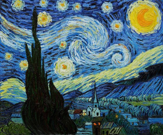 "Vincent Van Gogh, ""Starry Night."""