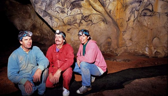 The discoverers of the Chauvet Cave - Jean-Marie Chauvet, Eliette Brunel and Christian Hilaire