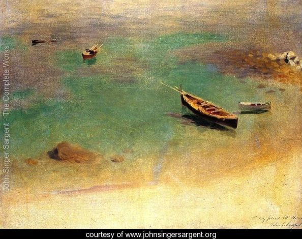 Sargent 13 A-Boat-in-the-Waters-off-Capri-large