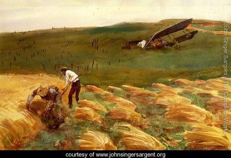 Sargent 13 Crashed-Aeroplane